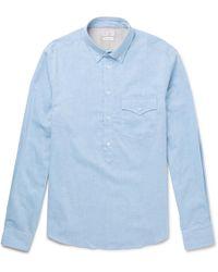 Brunello Cucinelli - Button-down Collar Cotton Half-placket Shirt - Lyst