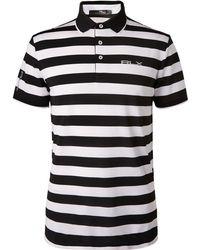 RLX Ralph Lauren - Striped Tech-piqué Golf Polo Shirt - Lyst