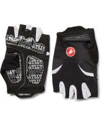 Castelli - Arenberg Gel Ax Suede And Jersey Cycling Gloves - Lyst