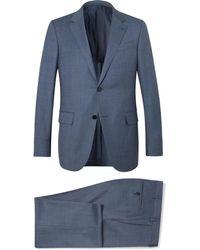 Ermenegildo Zegna - Blue Milano Slim-fit Wool-twill Suit - Lyst
