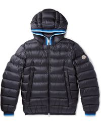 Moncler - Avrieux Stripe-trimmed Quilted Shell Hooded Down Jacket - Lyst