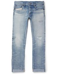 Fabric-Brand & Co.   Slim-fit Distressed Selvedge Denim Jeans   Lyst