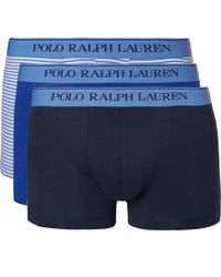 Polo Ralph Lauren - Three-pack Stretch-cotton Jersey Boxer Briefs - Lyst