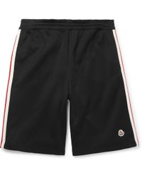 Moncler - Wide-leg Grosgrain-trimmed Cotton-jersey Shorts - Lyst