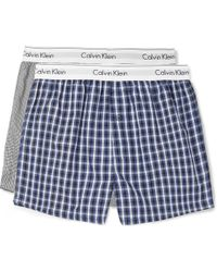 Calvin Klein - Two-pack Printed Cotton Boxer Shorts - Lyst