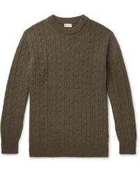 CONNOLLY - Cable-knit Cashmere Jumper - Lyst