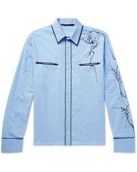 Haider Ackermann - Embroidered Cotton Western Shirt - Lyst