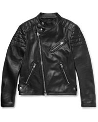 Tom Ford - Slim-fit Leather Biker Jacket - Lyst
