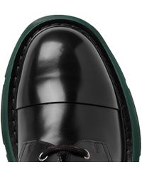 9c1317028b97c Alexander McQueen - Exaggerated-sole Leather Derby Shoes - Lyst