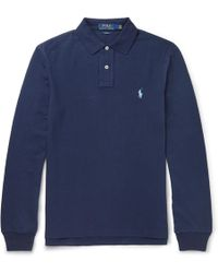 Polo Ralph Lauren - Slim-fit Cotton-piqué Polo Shirt - Lyst