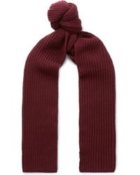 Dolce & Gabbana - Ribbed Cashmere Scarf - Lyst
