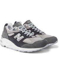 New Balance | 990v2 Nubuck And Mesh Trainers | Lyst