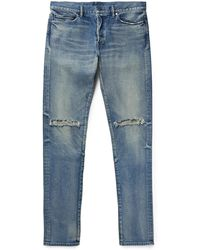 John Elliott - The Cast 2 Slim-fit Distressed Denim Jeans - Lyst