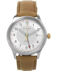 Farer - Frobisher Original Stainless Steel And Leather Watch - Lyst