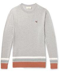 Maison Kitsuné - Striped Mélange Wool Jumper - Lyst