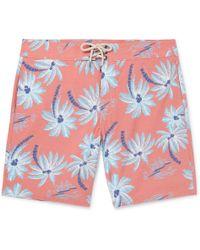 Faherty Brand - Beacon Slim-fit Long-length Printed Swim Shorts - Lyst