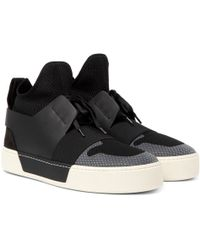 Balenciaga - Suede, Leather And Mesh High-top Trainers - Lyst