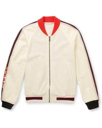 Gucci - Printed Perforated-leather Bomber Jacket - Lyst