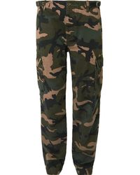 Valentino - Slim-fit Camouflage-print Cotton Cargo Trousers - Lyst