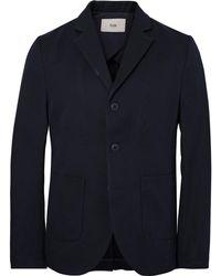 Folk - Blue Unstructured Cotton-blend Twill Blazer - Lyst