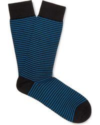 Pantherella - Farringdon Striped Cotton-blend Socks - Lyst