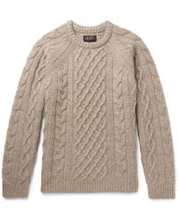 Beams Plus - Cable-knit Wool Sweater - Lyst