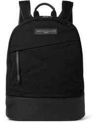 Want Les Essentiels De La Vie - Kastrup Leather-trimmed Organic Cotton-canvas Backpack - Lyst