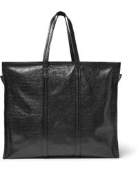 Balenciaga - Bazar Creased-leather Holdall - Lyst