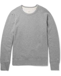 Rag & Bone - Standard Issue Mélange Loopback Stretch-cotton Jersey Sweatshirt - Lyst