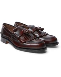 Church's - Oreham Burnished-leather Kiltie Tasselled Loafers - Lyst