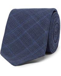 BOSS - 6cm Prince Of Wales Checked Virgin Wool Tie - Lyst