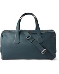 Valextra - Cabina Pebble-grain Leather Holdall - Lyst