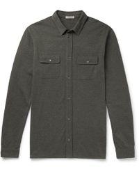 Bottega Veneta - Garment-dyed Cotton-piqué Shirt - Lyst