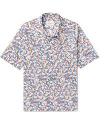 Albam - Camp-collar Printed Cotton Shirt - Lyst