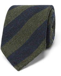 Thom Sweeney - 7.5cm Striped Wool And Silk-blend Tie - Lyst