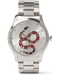 e92a9c7f10a Gucci Ya126265 Timeless Stainless Steel And Leather Watch in ...