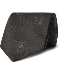 Alexander McQueen - 7cm Embroidered Silk-faille Tie - Lyst