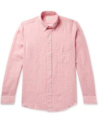 Hartford - Sander Slim-fit Linen Shirt - Lyst