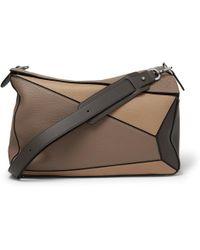Loewe - Puzzle Xl Full-grain Leather Messenger Bag - Lyst