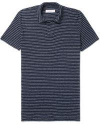 Orlebar Brown - Felix Striped Cotton-jersey Polo Shirt - Lyst