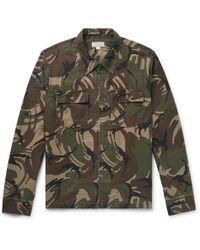 J.Crew - Camouflage-print Cotton-canvas Shirt Jacket - Lyst