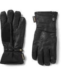Burton - Guide Leather, Gore-tex And Stretch-jersey Gloves - Lyst