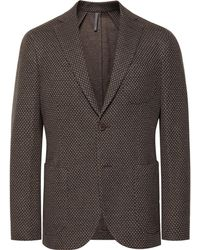 Incotex - Brown Slim-fit Virgin Wool And Cotton-blend Blazer - Lyst