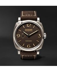 Officine Panerai - Radiomir 1940 3 Days Automatic 45mm Titanium And Leather Watch - Lyst