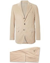 Massimo Alba - Sand Cotton-corduroy Suit - Lyst