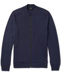Hanro - Stretch-cotton Jersey Zip-up Sweatshirt - Lyst