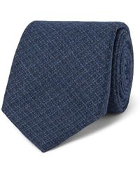 Altea - 8.5cm Checked Wool And Silk-blend Tie - Lyst