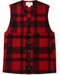 Filson - Checked Mackinaw Virgin Wool Gilet - Lyst