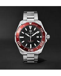 Tag Heuer | Aquaracer 43mm Polished-steel Watch | Lyst