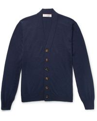 Brunello Cucinelli - Virgin Wool And Cashmere-blend Cardigan - Lyst